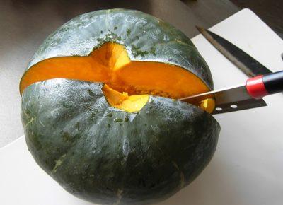 金味 かぼちゃ切り方