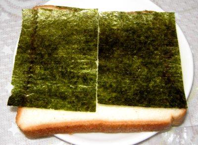 教えてもらう前と後 海苔カニカマトーストのレシピ