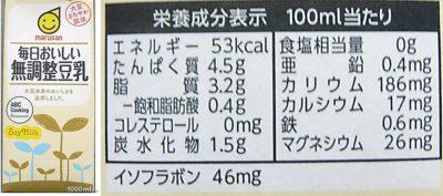 牛乳、無調整豆乳、調整豆乳の味の違い